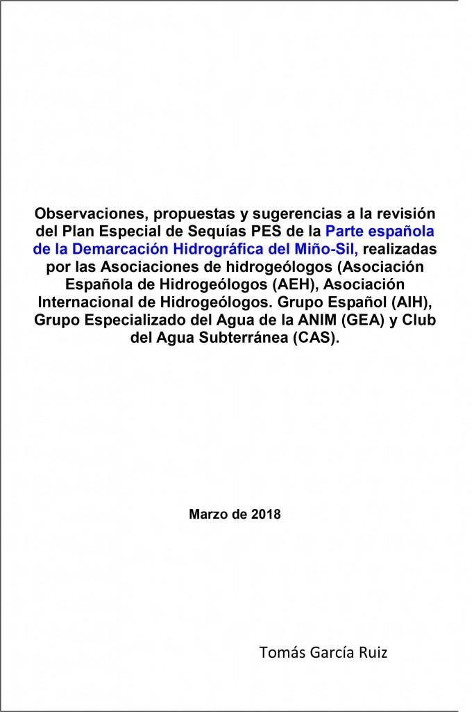 PES Parte Española D. H. del Miño-Sil